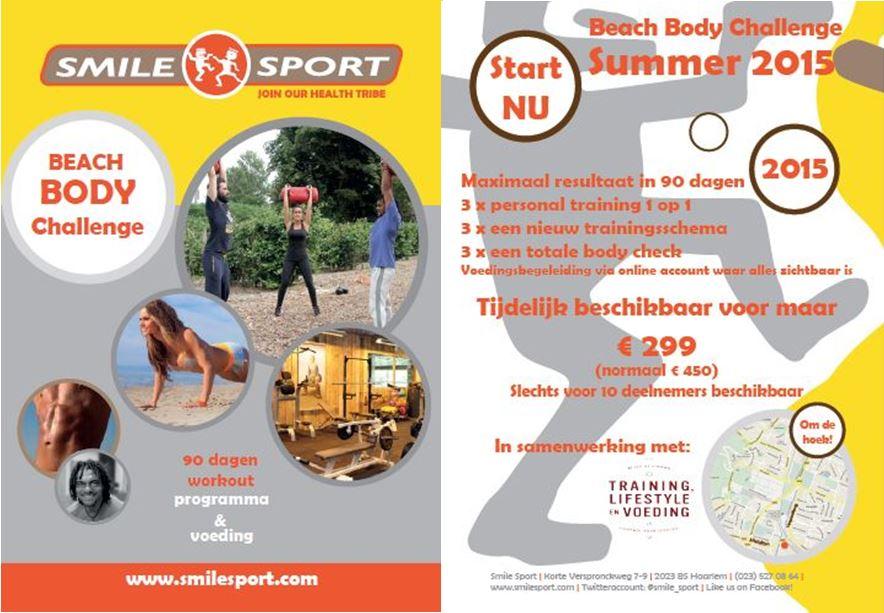 beach body challenge Smile Sport Haarlem