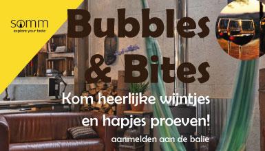 Bubbles & Bites op zaterdag 10 september van 16.00 tot 19.00 voor €17,50 p.p.