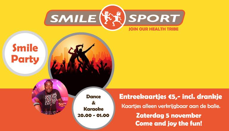 karaoke-feestje-smile-sport-5-november