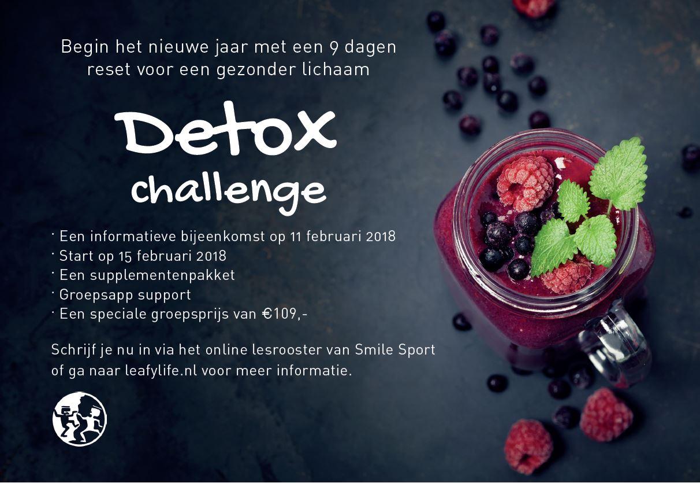 Detox challenge bij Smile Sport Haarlem