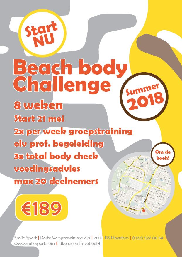 Smile Sport Beach Body Challenge 2018 achterkant