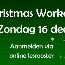 Santa Workout lessen op zondag 16 december